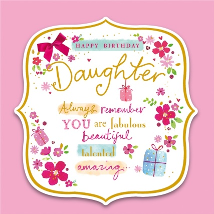 Happy Birthday Daughter Birthday Card – Daughter Birthday Cards