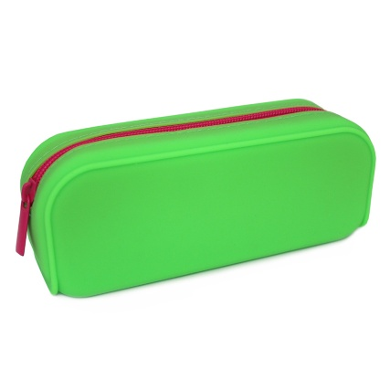 301395-Green-Silicone-with-Pink-Zip-Pencil-Case