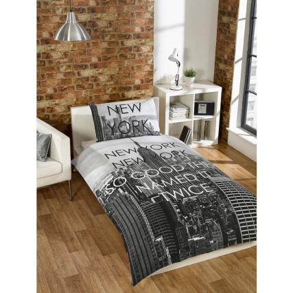 New York City Scene Single Duvet Set Bedding Duvet Cover