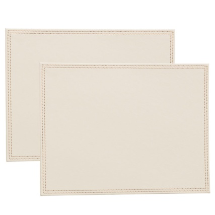 302601-Set-of-2-Leatherette-Placemats-cream-main1