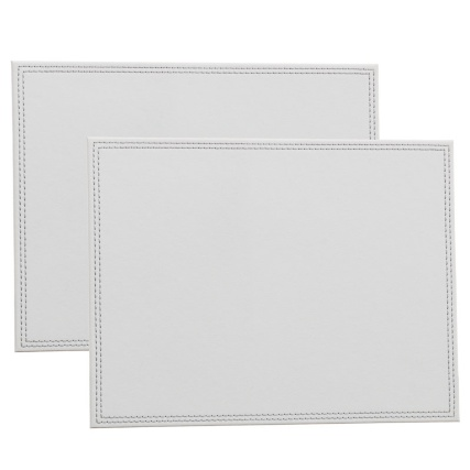 302601-Set-of-2-Leatherette-Placemats-soft-grey-main1