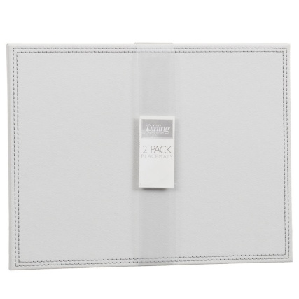 302601-Set-of-2-Leatherette-Placemats-soft-grey1
