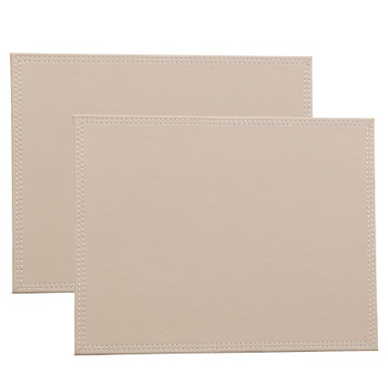 302601-Set-of-2-Leatherette-Placemats-taupe-main1