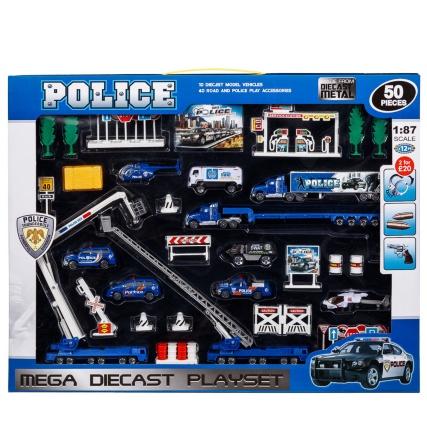 303235-Police-Mega-Diecast-Playset-50pcs