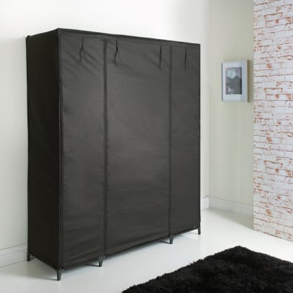 304356-3-Section-Wardrobe-Closed
