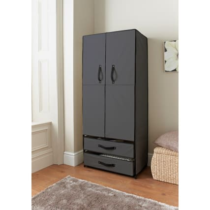 323452--deluxe-double-canvas-wardrobe-grey-open