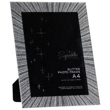 305880-A4-Glass-Glitter-Photo-Frame-easel1