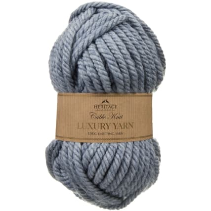 305891-Cable-Knit-Luxury-Yarn-150g-Blue