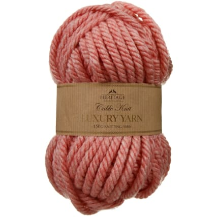 305891-Cable-Knit-Luxury-Yarn-150g-Coral