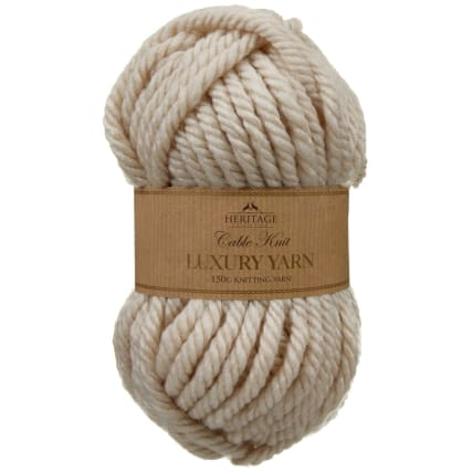 305891-Cable-Knit-Luxury-Yarn-150g-Cream
