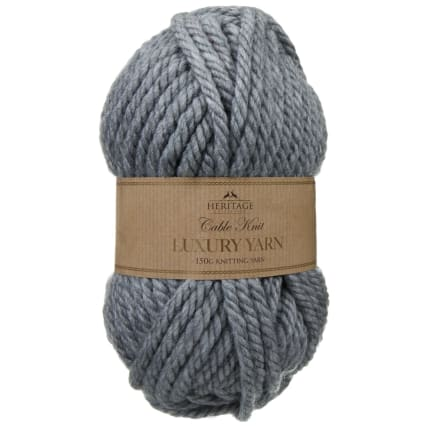 305891-Cable-Knit-Luxury-Yarn-150g-Grey