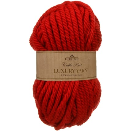 305891-Cable-Knit-Luxury-Yarn-150g-Red