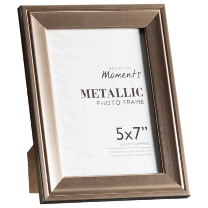 306044-Great-Value-Pack-of-2-Metallic-5x7-inch-Photo-Frames-easel1
