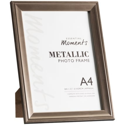 306047-Great-Value-Pack-of-2-Metallic-A4-Photo-Frames-easel1