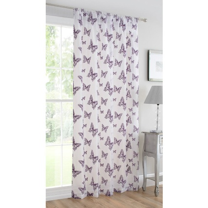 306238-Butterfly-flocked-voile-Purple