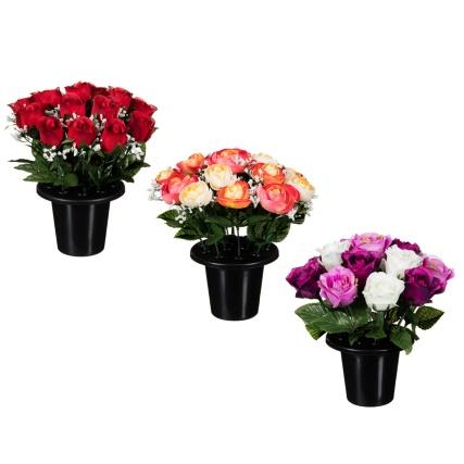306365-25cm-Floral-Grave-Pots-group1