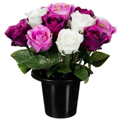 306365-25cm-Floral-Grave-Pots-purple1
