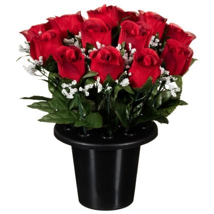 306365-25cm-Floral-Grave-Pots-red1