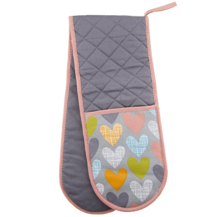 306501-Modern-Double-Oven-Glove---Grey-Textured-Hearts1