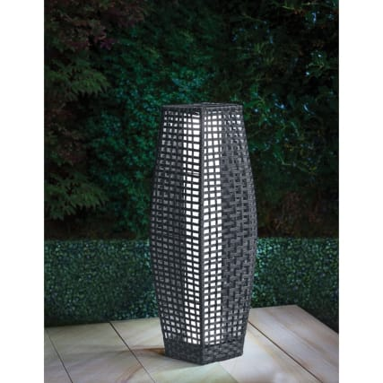 Sorrento Rattan Garden Floor Lamp Garden Amp Solar Lighting