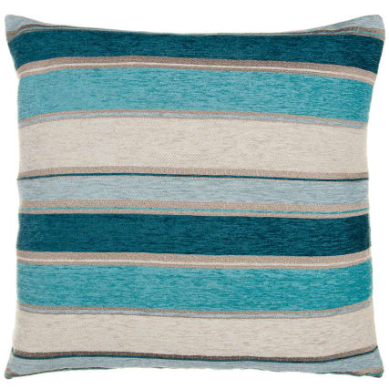 Chloe Chunky Chenille Stripe Cushion - Teal