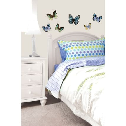 3D Butterfly Wall Sticker - Silver