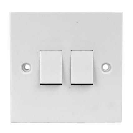308833--SWITCHES-SOCKETS--LIGHT-SWITCH-DOUBLE--WHITE