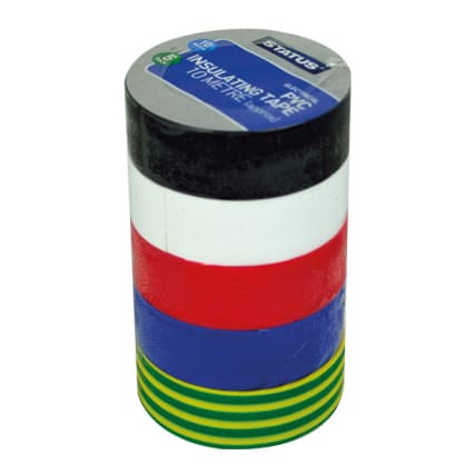 308855--SWITCHES-SOCKETS--5PK-ELECTRICAL-TAPE---MULTI-COLOURED