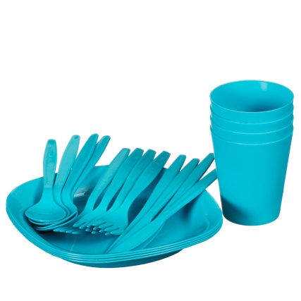 321267 308885-21pc-Picnic-Boxed-Dining-Set Turquoise
