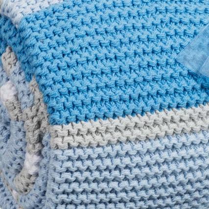Knitted Stripe Baby Blanket Baby & Nursery Bedding