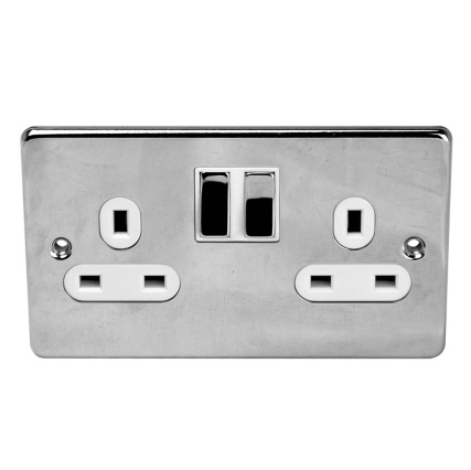 309338--SWITCHES-SOCKETS--2-GANG-13AMP---CHROME