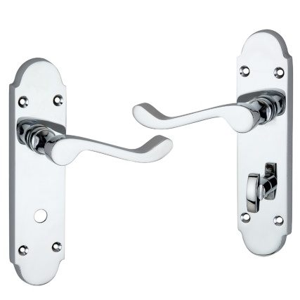 309444-Rounded-silver-door-handle-with-lock