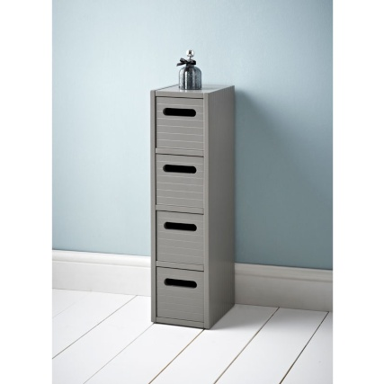 309700-Polar-grey-4-drawer-unit