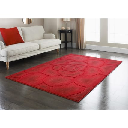 310846-310847-Red-floral-carved-rug