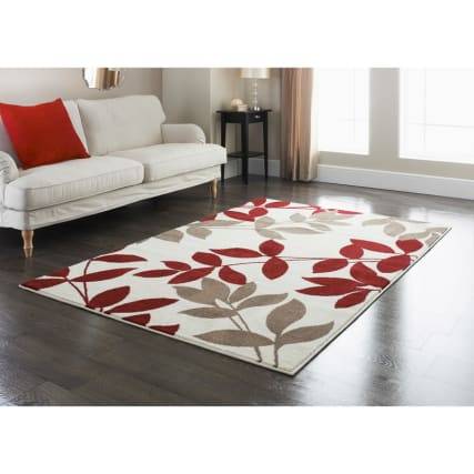 Rainforest Rug Red 110 X 160cm Rugs Textured Rugs