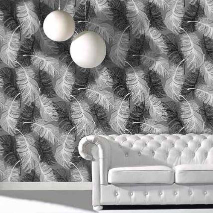312063-FEATHER-MOTIF-BLACK-Wallpaper