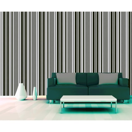312097-Marrakech-Grey-Blk-stripe-room-Wallpaper