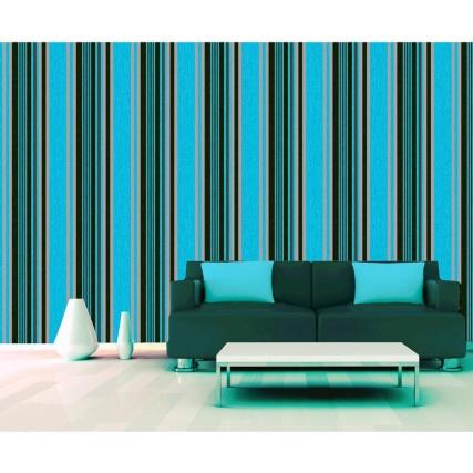 312098-Marrakech-Teal-Blk-stripe-room-Wallpaper