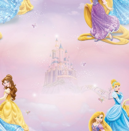 312254-Disney-Pretty-as-a-Princess-Multi-Wallpaper