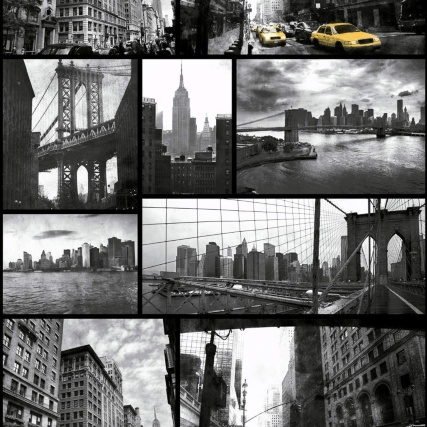 Debona New York Wallpaper - Black/White