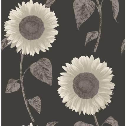 312337-fine-decor-sunflower-silver-motif-wallpaper-2