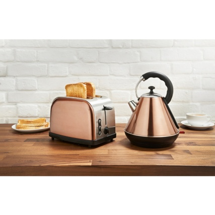 Copper Kettle & Toaster Breakfast Set