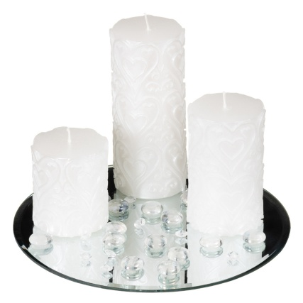 312817-Candle-Set-With-Mirror-Plate---Crystals-And-Pebbles1