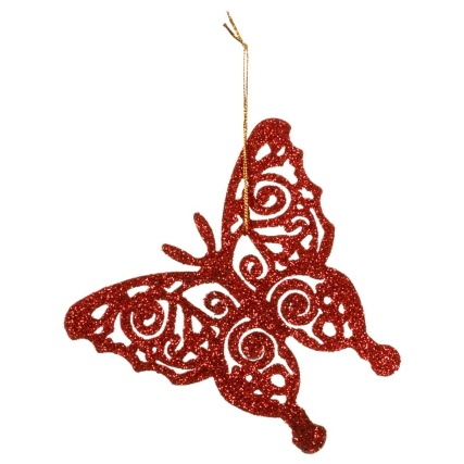 313164-16-pack-Glitter-Butterfly-Christmas-Tree-Decorations-red-2