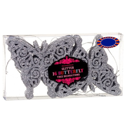 313164-16-pack-Glitter-Butterfly-Christmas-Tree-Decorations-silver