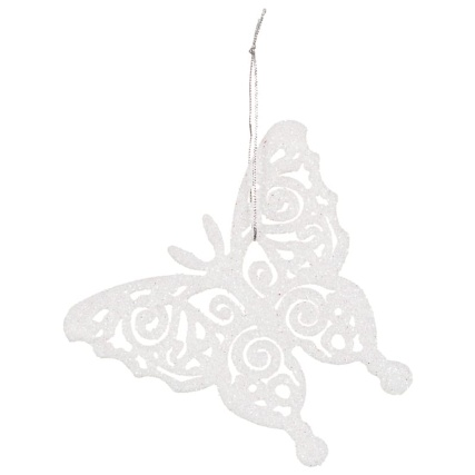 313164-16-pack-Glitter-Butterfly-Christmas-Tree-Decorations-white-3