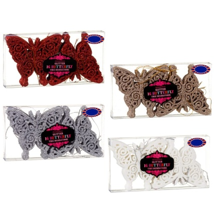 313164-16-pack-Glitter-Butterfly-Christmas-Tree-Decorations