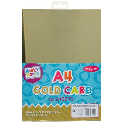 313229-20-Sheets-Gold-Card