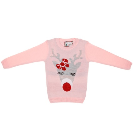 314158--Girls-Christmas-Jumpers-reindeer1