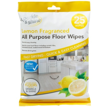 314309-Sparkle-and-Shine-Lemon-Fragranced-All-Purpose-Floor-Wipes-25PK